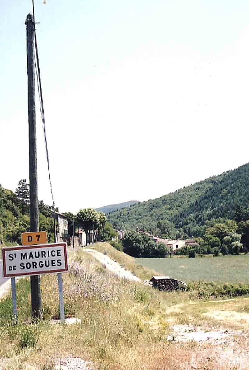De la route , il y a toujours des jardins en bordure de Sorgues .....