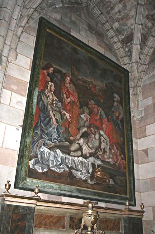 """.....Chapelle Saint-Antoine.Toile """"Déposition de Croix""""....."""