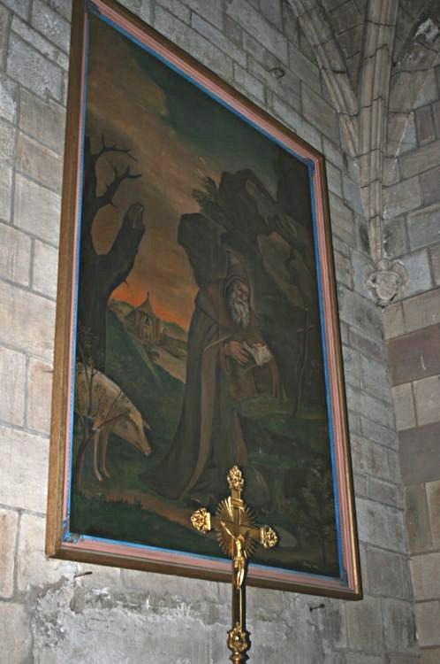 """......Chapelle Sainte Thérèse : Toile """"Saint-Antoine ermite""""......"""