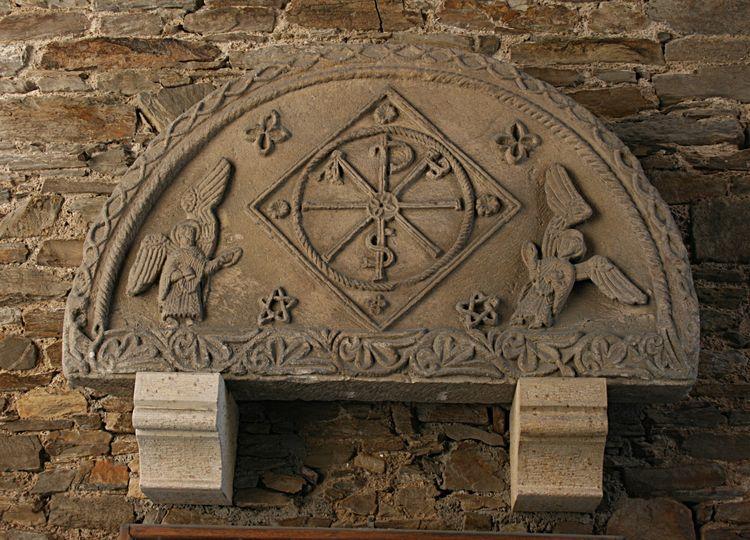 .....Le tympan de Notre Dame de Massiliergues.....